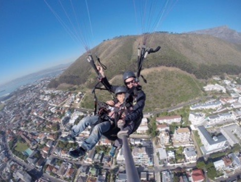 Paragliding off Signal Hill in Cape Town