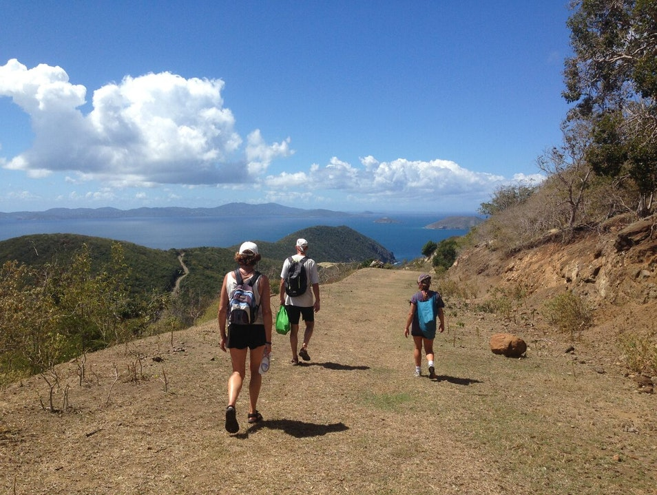 Hike up to the top of Majohnny Hill Jost Van Dyke  British Virgin Islands