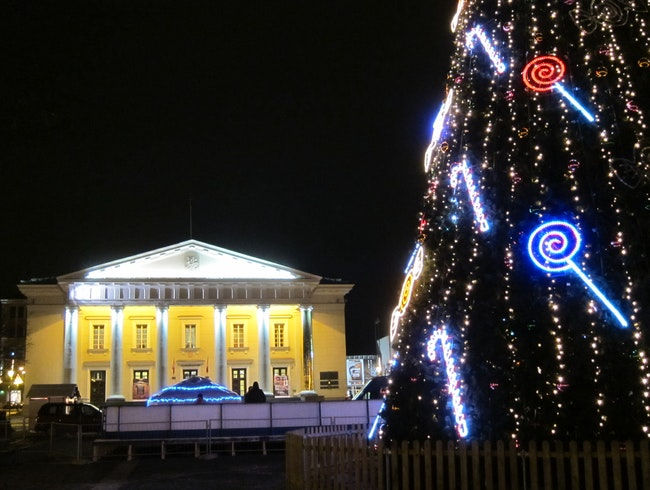 Christmas tree near Town Hall Vilnius