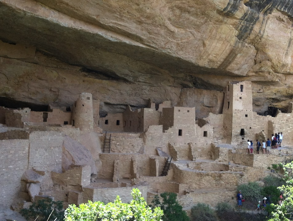 Ancient Cliff Dwellings Mancos Colorado United States
