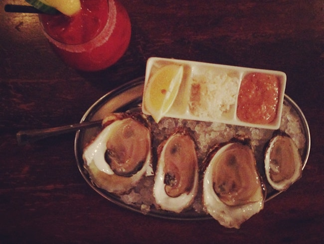 Best oysters on the island