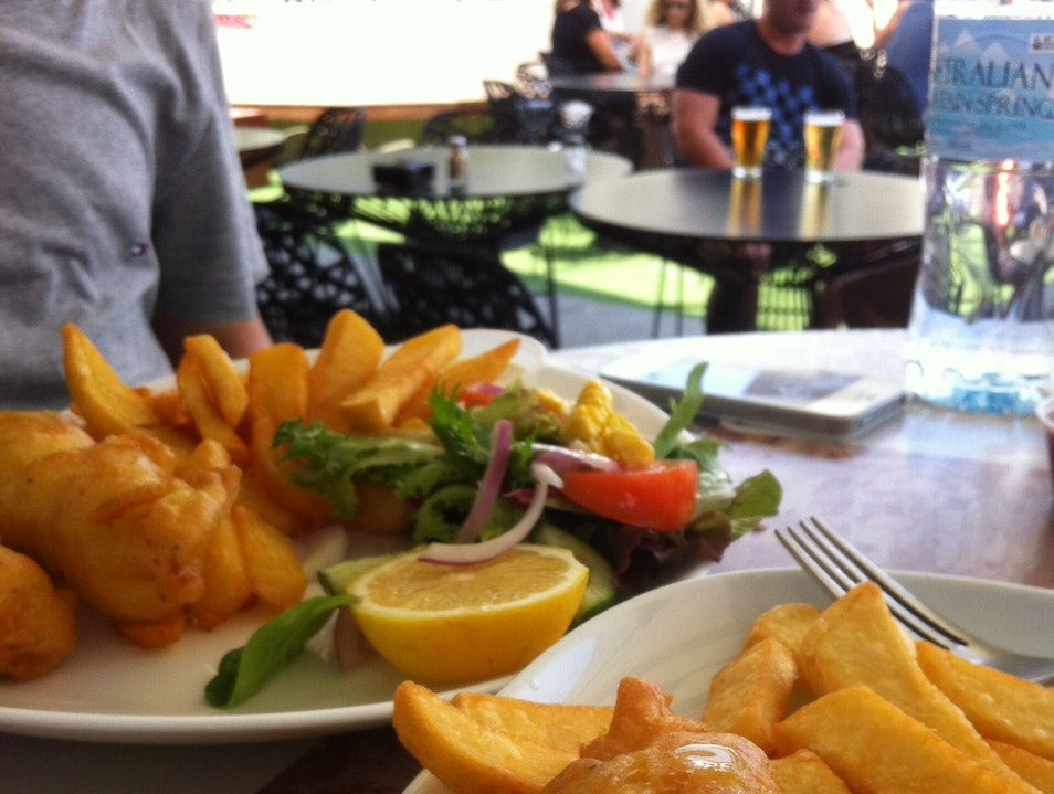 Fish and Chips and Sunshine and Sand. Clovelly  Australia