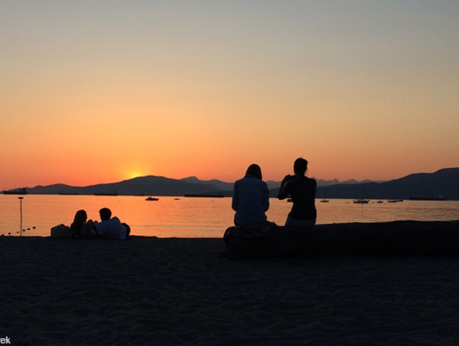 A Sunset on Vancouver's Beaches