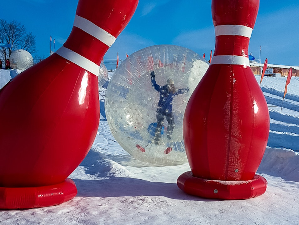 Snowy fun at Quebec City's Winter Carnival