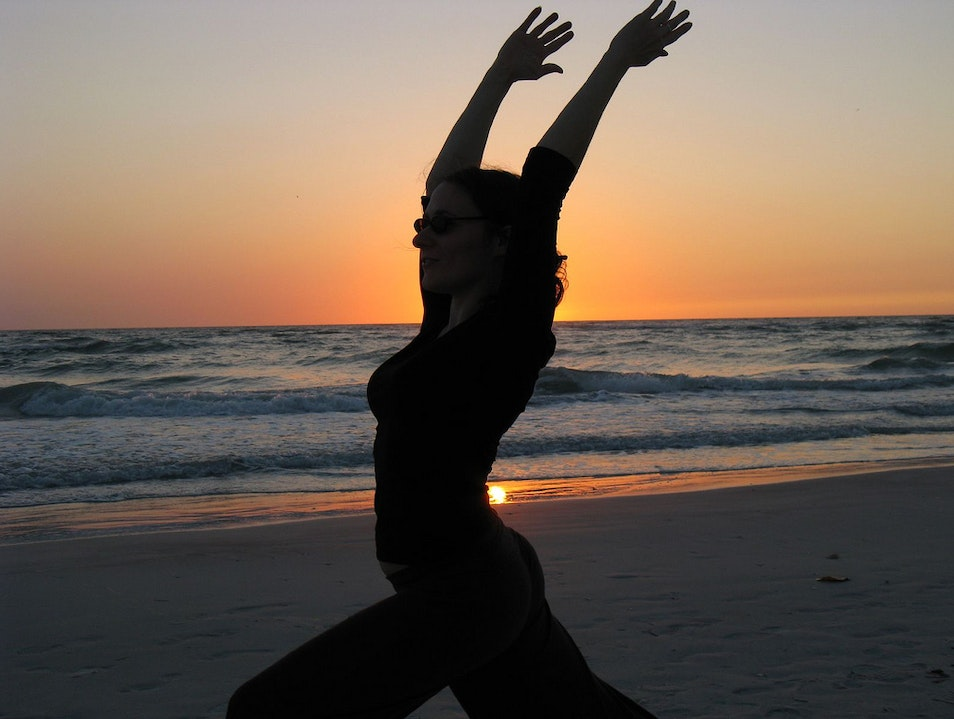 De-stress and work out on the beach