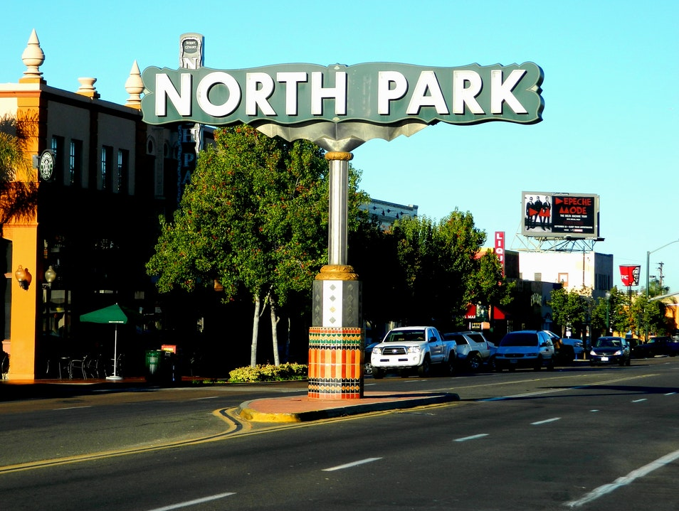 Bustling North Park San Diego California United States