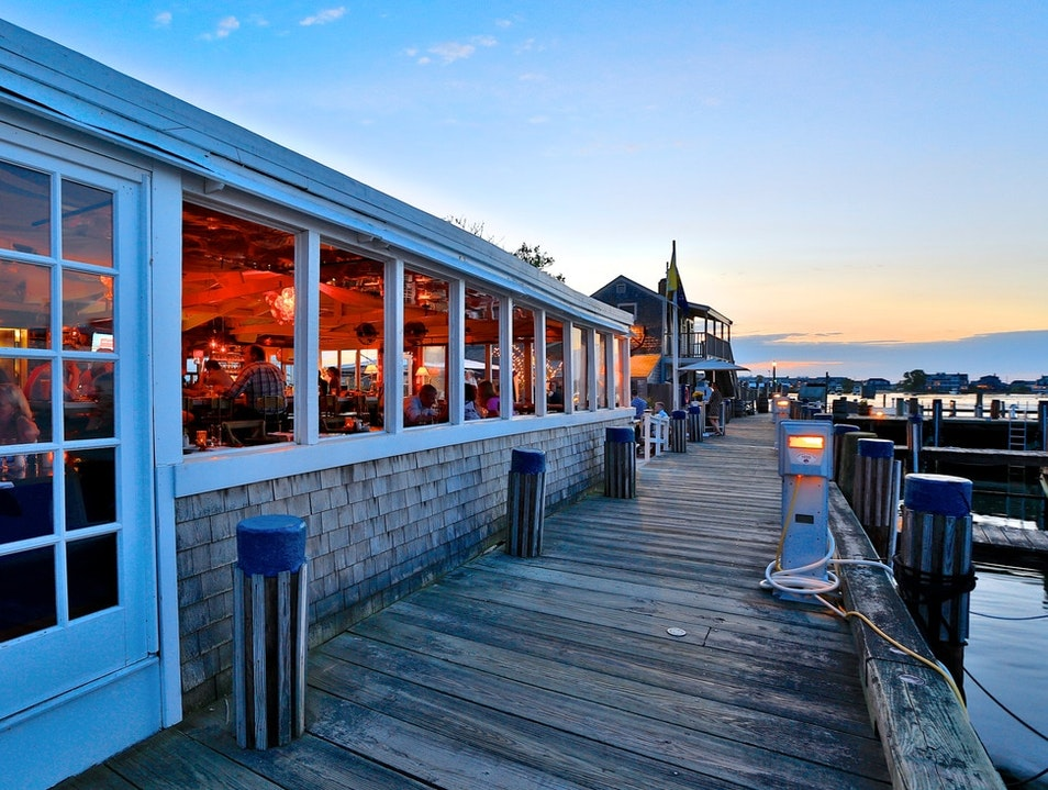 Cocktails and Oysters with Superb People-Watching Nantucket Massachusetts United States