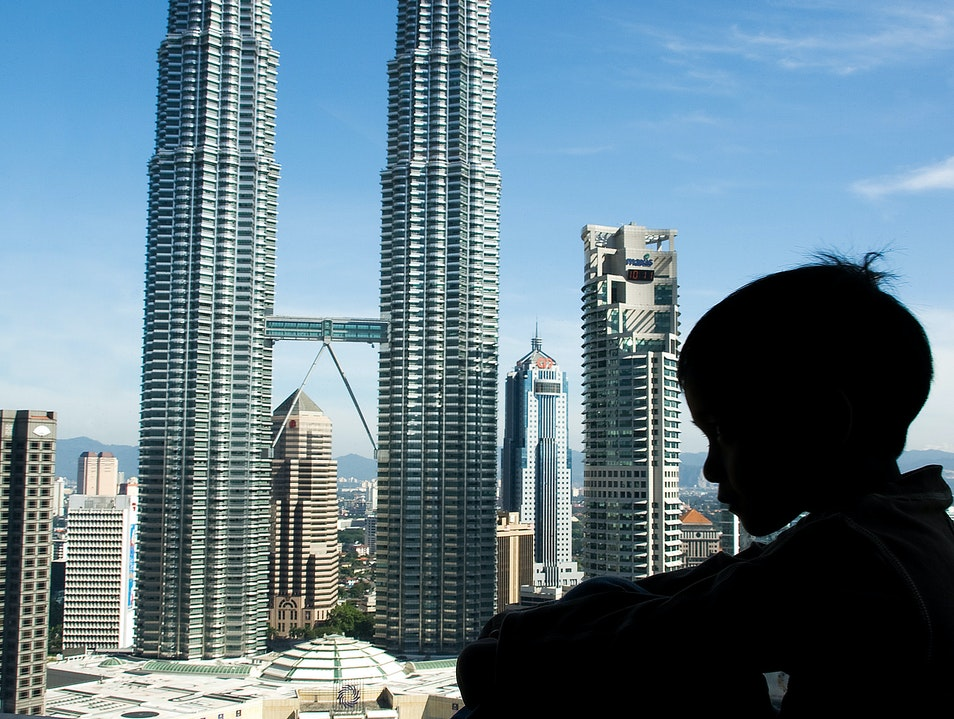 For the best view of the Twin Towers... Kuala Lumpur  Malaysia