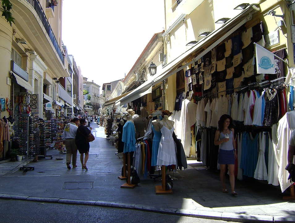 Shopping in the Plaka Athens  Greece