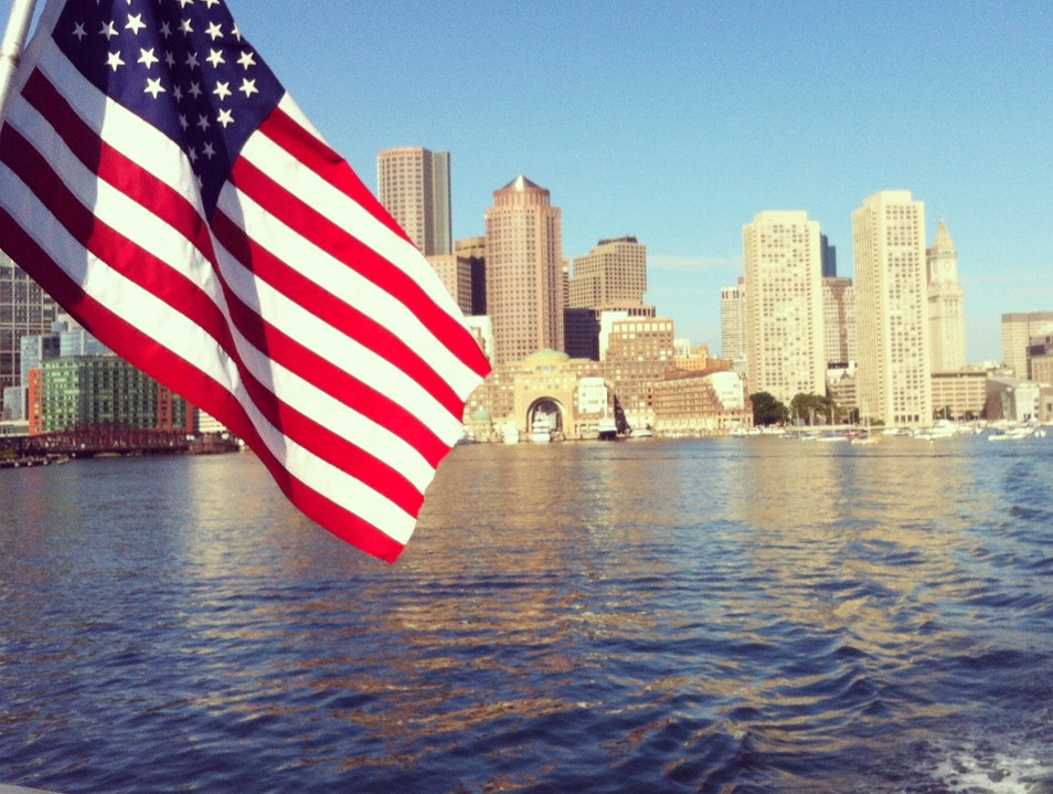 A Ferry Ride With A View Boston Massachusetts United States