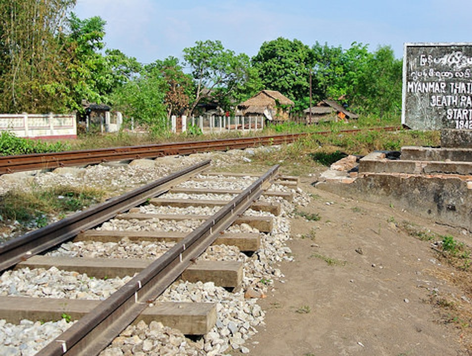 The End of the Line Thanbyuzayat  Myanmar