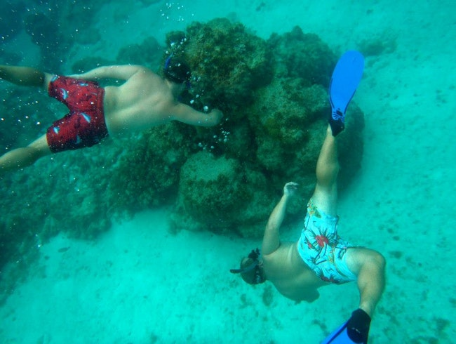 Snorkeling near Prickly Pear Cays