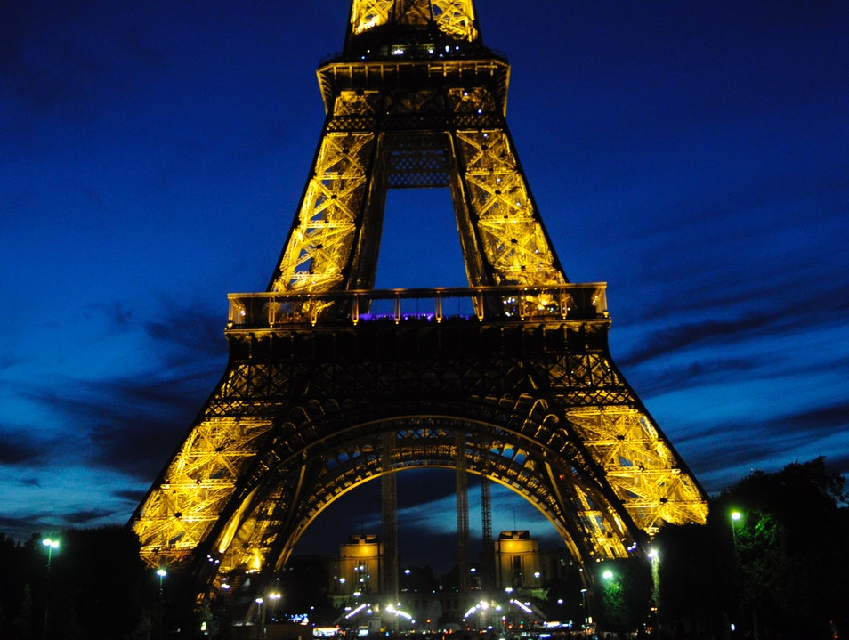 Watch the Eiffel Tower light up Paris  France