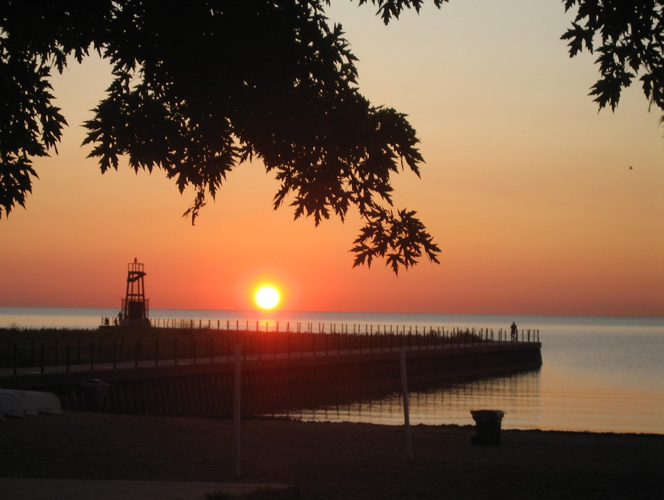 Peaceful Morning at a Neighborhood Beach Chicago Illinois United States