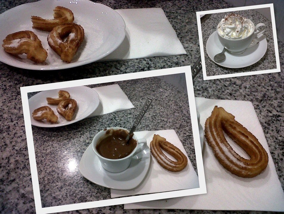 Hot chocolate with churros Barcelona  Spain