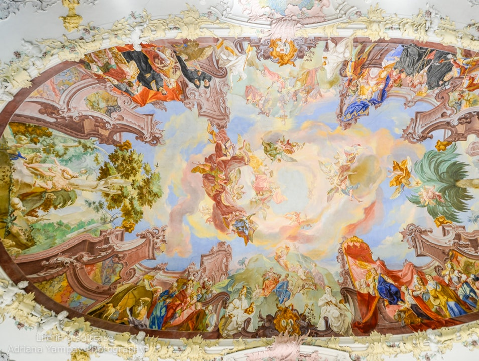Magnificent fresco  Wiblingen  Germany