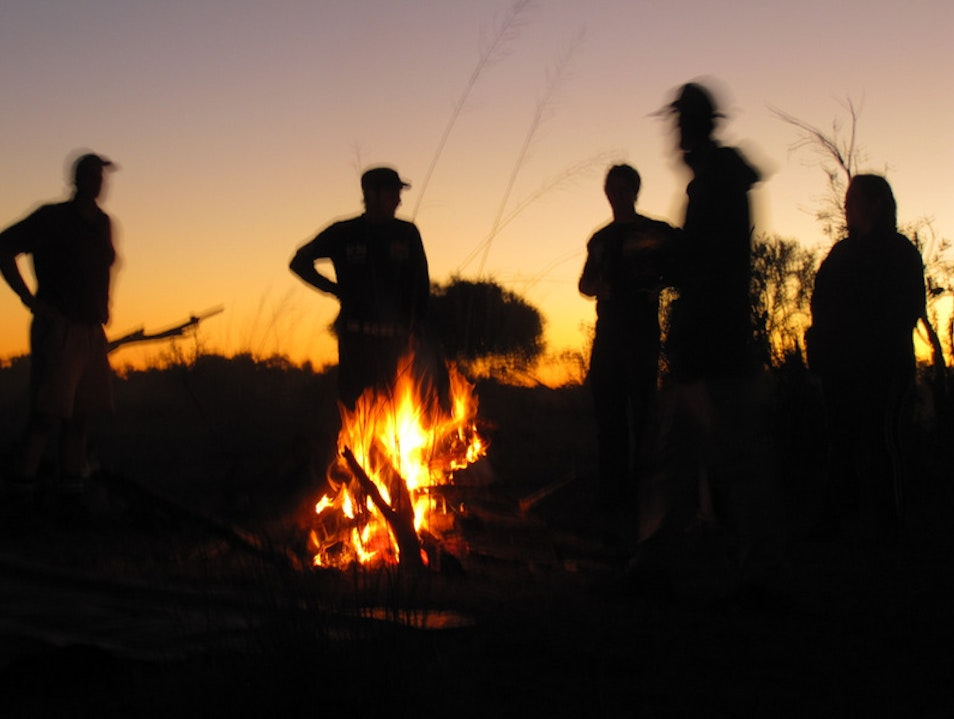Camping in the Wild in the Okavango Panhandle Caprivi  Namibia