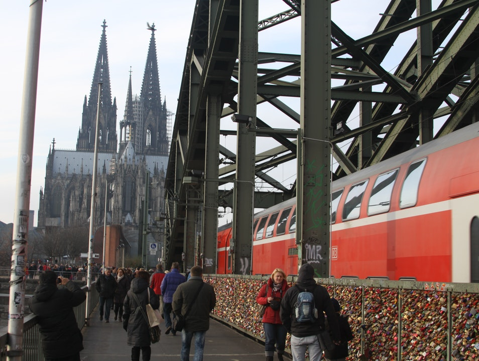 Most Romantic Bridge in Germany Cologne  Germany