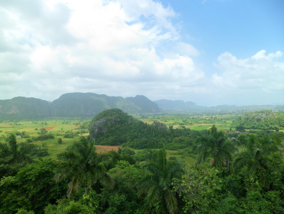 Beautiful views both over and underground Vinales  Cuba