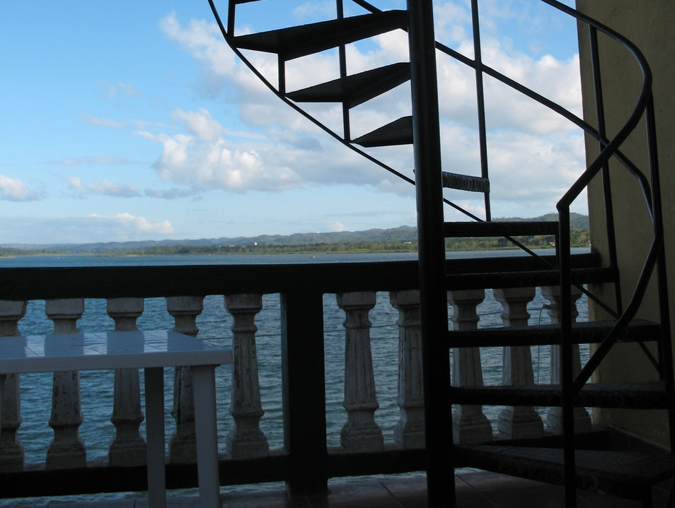 Iron staircase in Flores Flores  Guatemala
