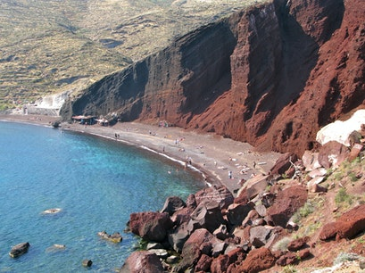 Red Beach, Akrotiri Santorini  Greece