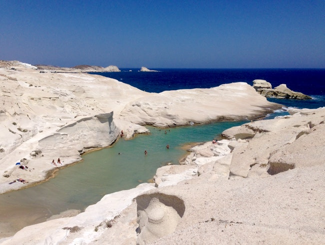 Otherworldly Sarakiniko Beach