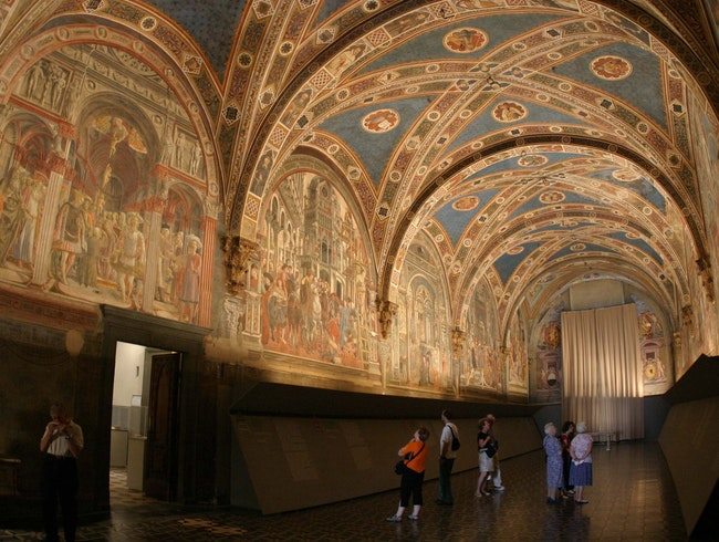Frescoes and medical history at history Santa Maria della Scala