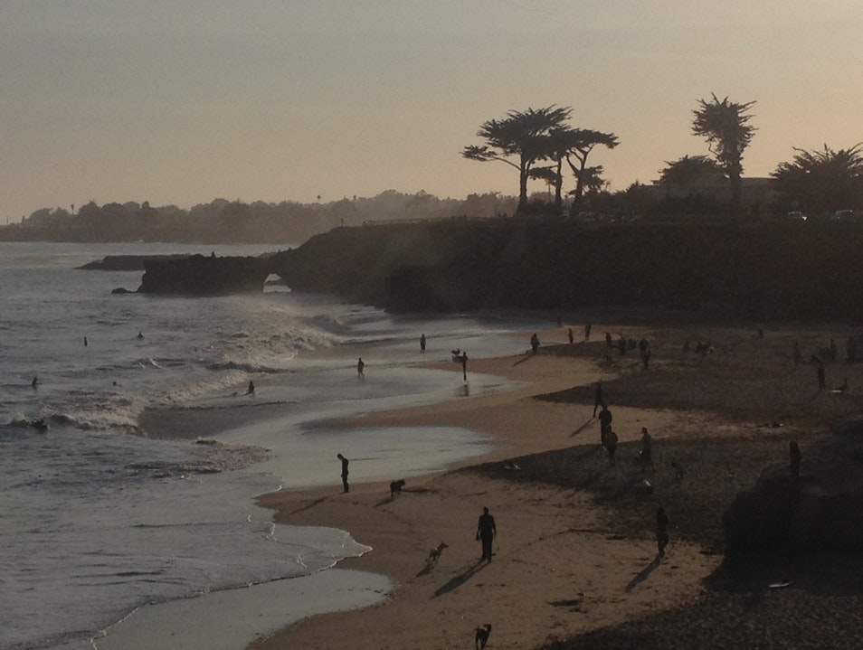Northern California beach walks Santa Cruz California United States