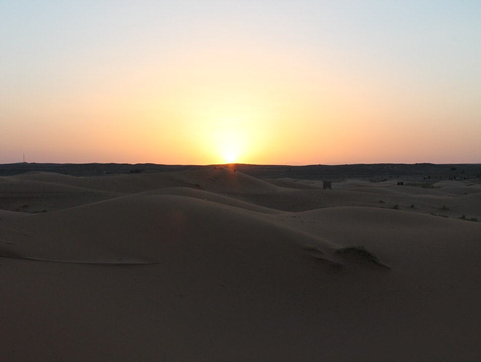 Sunset over the Sahara Errachidia Province  Morocco