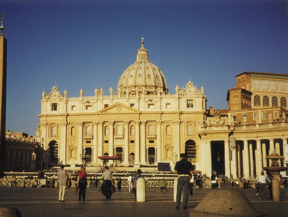 St. Peter's Square, the Vatican, and St. Peter's Basilica Rome  Vatican City