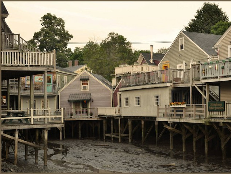 Fishing Village turned Quaint Town Kennebunk Maine United States