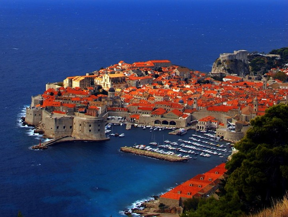 Driving along the Dalmatian Coast in Croatia Dubrovnik  Croatia