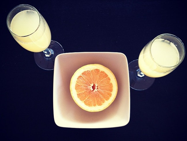 Fresh Grapefruit Mimosas from Arizona