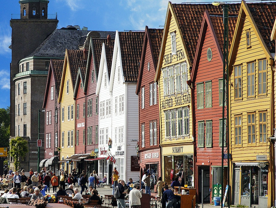 Scandinavian Port City Bergen  Norway