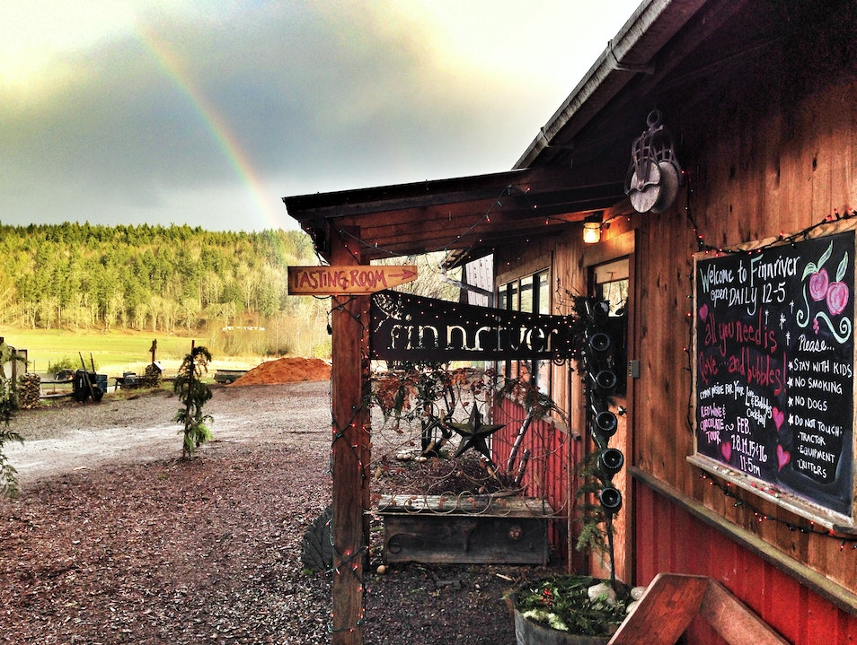 Hard Cider Exploration at the Finnriver Farm & Cidery Chimacum Washington United States