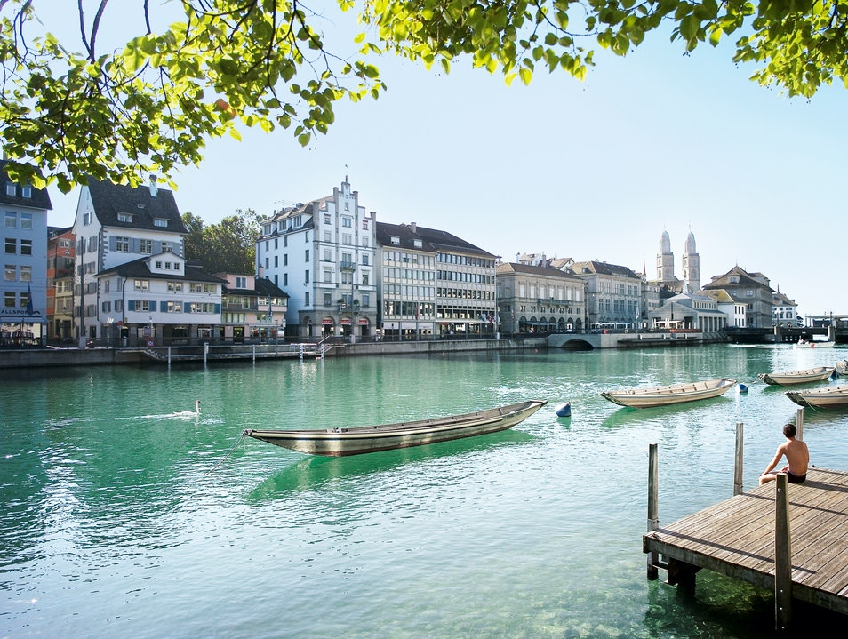 A Serene River Stroll  Zurich  Switzerland