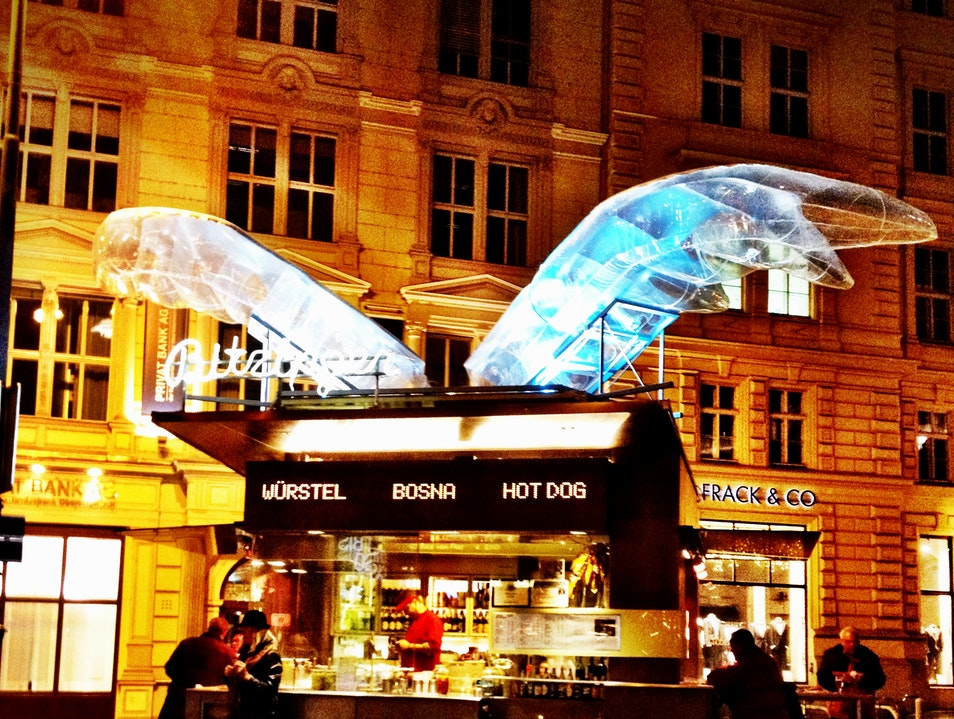 Sausage Stand with Wings Vienna  Austria