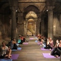 Yoga in The Underground Cistern  Istanbul  Turkey