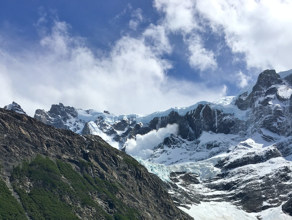 Avalanche over French Glacier