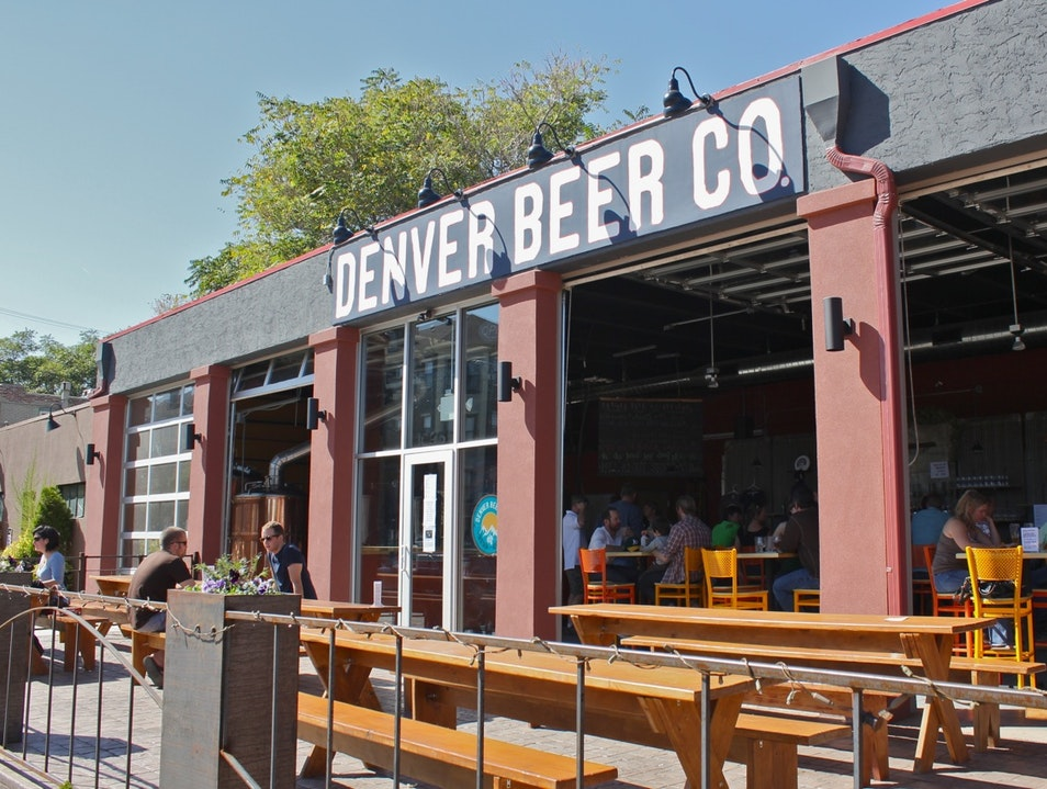 A Brewery and a Beer Garden