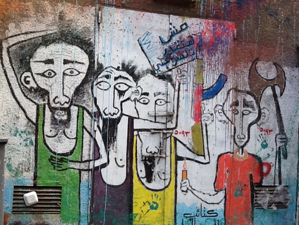 Urban Art in Zamalek Abu Al Feda  Egypt