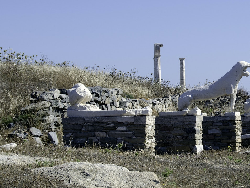 Delos, the Birthplace of Apollo and Artemis Mykonos  Greece