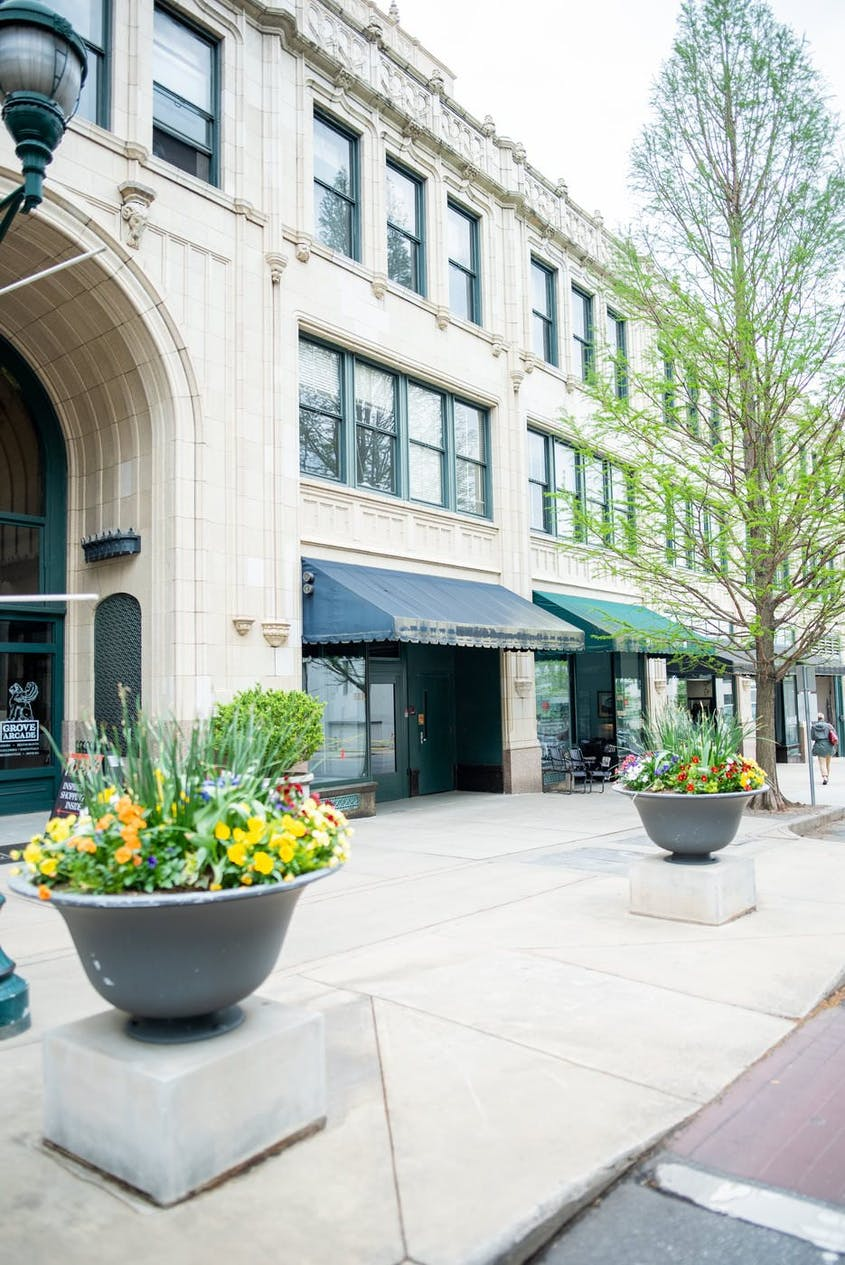 Follow the Urban Trail in downtown Asheville to learn about the city's famous residents, including George Vanderbilt and Thomas Wolfe.