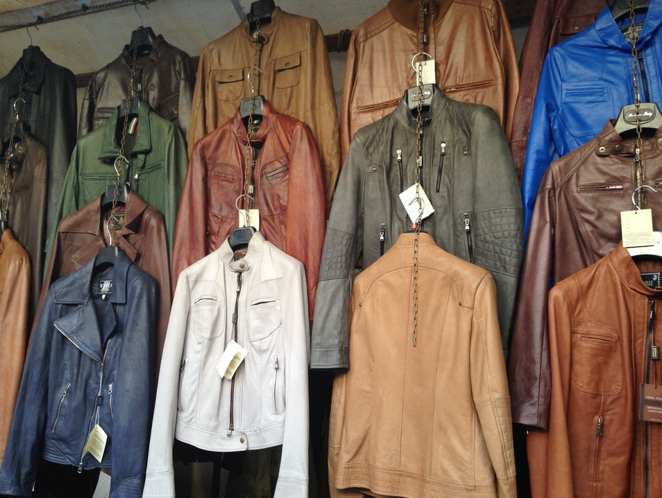 Shop the Leather Markets in Florence, Italy Limite Sull'arno  Italy