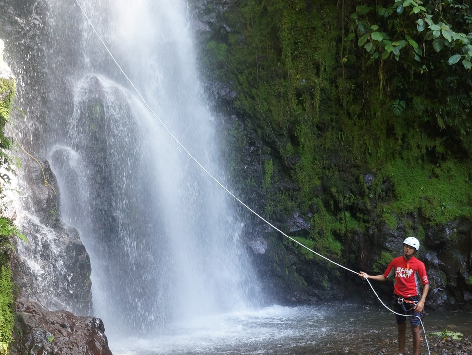 hike, rappel, and zip-line through the rainforest Arenal Volcano National Park  Costa Rica