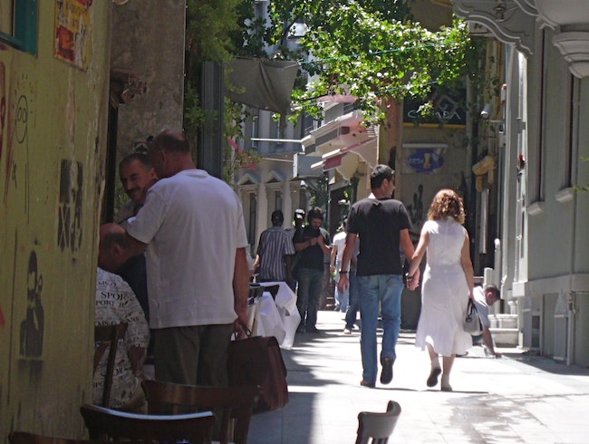 A Side Street off Istiklal Caddesi