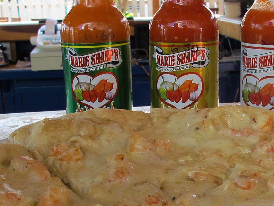 Eat Marie Sharp's Hot Sauce Dangriga  Belize