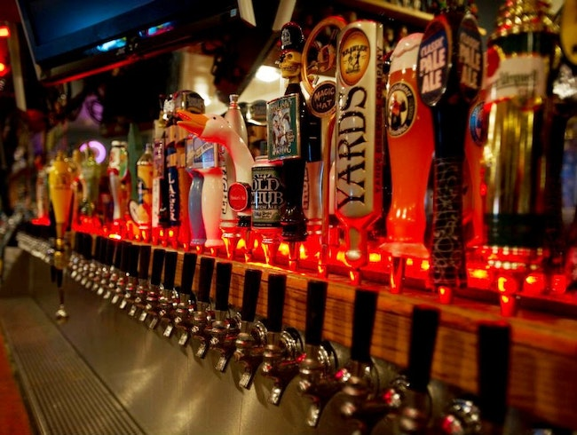 48 Brew Taps at Heroes Pub