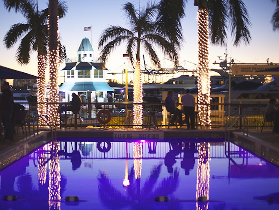 Seafood, Drinks, Pool & Sun. This is South Beach! Miami Beach Florida United States