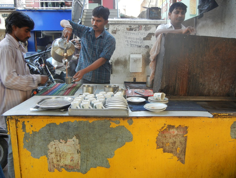 The yellow tea cart Ahmedabad  India